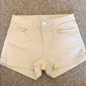H&M Yellow Hi-Rise Shorts